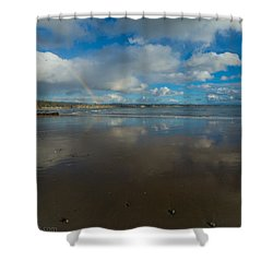 Shower Curtain featuring the photograph Christmas Eve Early Gifts by Lora Lee Chapman