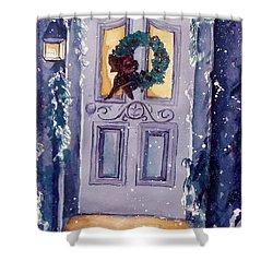 Christmas Eve Shower Curtain by Jan Bennicoff
