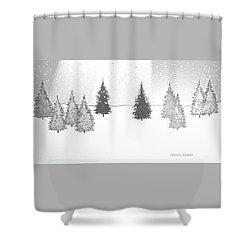 Christmas Eve Shower Curtain by Lenore Senior