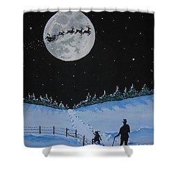 Christmas Eve Stroll Shower Curtain