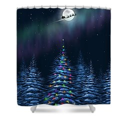 Shower Curtain featuring the painting Christmas Eve by Veronica Minozzi