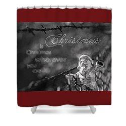 Christmas Everywhere Shower Curtain by Caitlyn Grasso