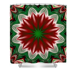 Christmas Flower Shower Curtain