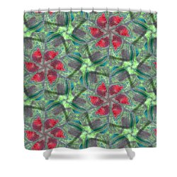 Christmas Flowers Shower Curtain