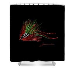 Christmas Fly Shower Curtain