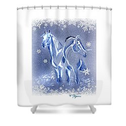 Christmas Friends Shower Curtain