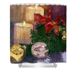 Christmas Glow Shower Curtain