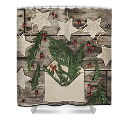Shower Curtain featuring the photograph Christmas Greens by Kim Hojnacki