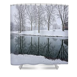 Shower Curtain featuring the photograph Winter Landsape by Kathi Mirto