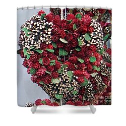 Christmas Heart Shower Curtain