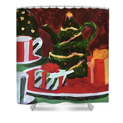 Christmas Holiday Shower Curtain