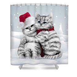 Christmas Hug Shower Curtain