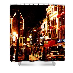 Christmas In Amsterdam Shower Curtain by Nancy Mueller