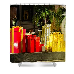 Shower Curtain featuring the photograph Christmas In Beverly Hills by Robert Hebert