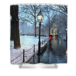 Christmas In Central Park Shower Curtain