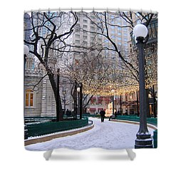 Christmas In Chicago Shower Curtain
