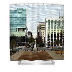 Christmas In Columbia Sc Shower Curtain by Skip Willits