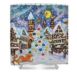 Christmas In Europe Shower Curtain