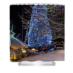 Shower Curtain featuring the photograph Christmas In Leavenworth by Dan Mihai