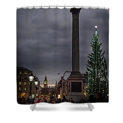 Christmas In Trafalgar Square, London Shower Curtain