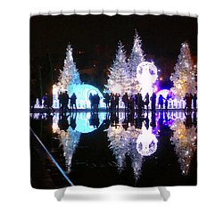 Christmas In Nizza, Southern France Shower Curtain