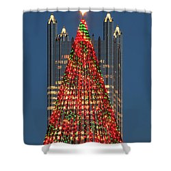 Shower Curtain featuring the photograph Christmas In Pittsburgh 2016  by Emmanuel Panagiotakis