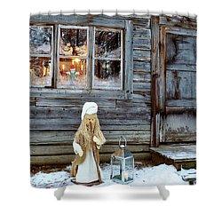 christmas in Scandinavia Shower Curtain