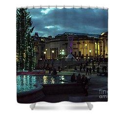 Christmas In Trafalgar Square, London 2 Shower Curtain