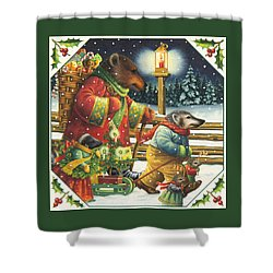 Christmas Journey Shower Curtain