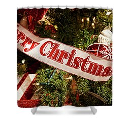 Christmas Joy Shower Curtain by Dennis Hedberg
