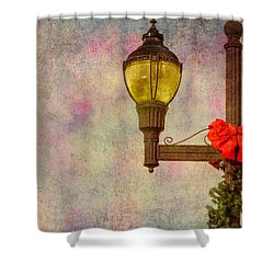 Christmas Lamp Post Shower Curtain by Phillip Burrow