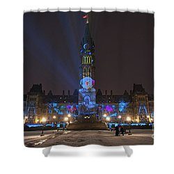 Shower Curtain featuring the photograph Christmas Lights Across Canada.. by Nina Stavlund