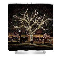 Christmas Lights Shower Curtain by Alan Toepfer