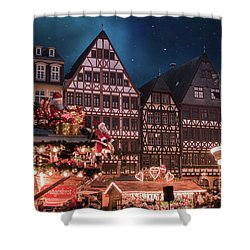 Shower Curtain featuring the photograph Christmas Market by Juli Scalzi