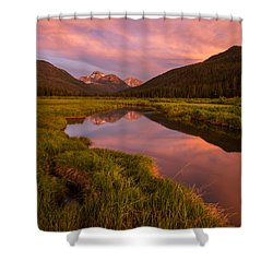 Shower Curtain featuring the photograph Christmas Meadow by Dustin  LeFevre