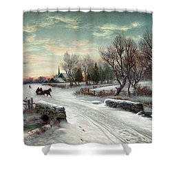 Christmas Morn, C1885 Shower Curtain by Granger