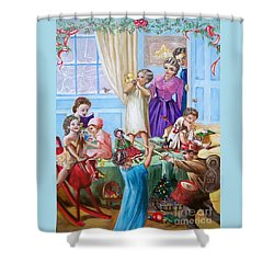 American History  We Say Merry  Christmas  Because It Is Christmas  Shower Curtain