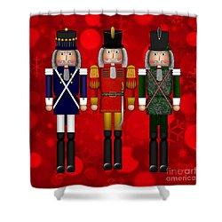 Christmas Nutcracker Trio Shower Curtain