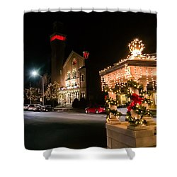 Christmas On Main Street Easthampton Shower Curtain