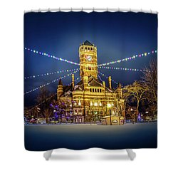 Christmas On The Square 2 Shower Curtain