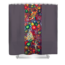 Christmas Orbs Shower Curtain by Peter Bonk