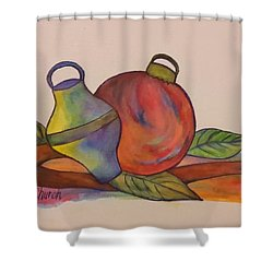 Christmas Ornaments Shower Curtain by Christy Saunders Church
