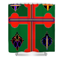 Christmas Ornate 3 Shower Curtain