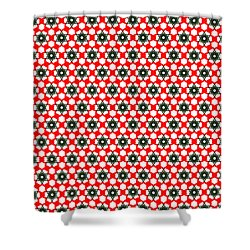 Christmas Paper Pattern Shower Curtain