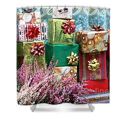 Christmas Presents In Vienna Shower Curtain