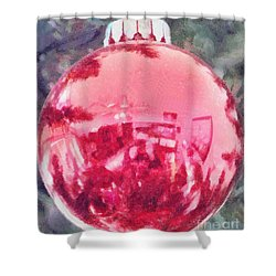 Christmas Reflected Shower Curtain by Jeff Kolker