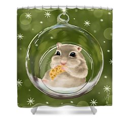 Shower Curtain featuring the painting Christmas Relax by Veronica Minozzi