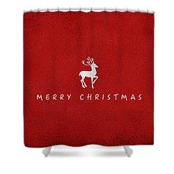 Christmas Series Christmas Deer Shower Curtain