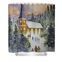 Christmas Service Shower Curtain