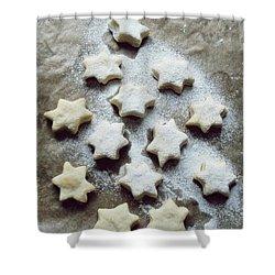 Christmas Stars Shower Curtain